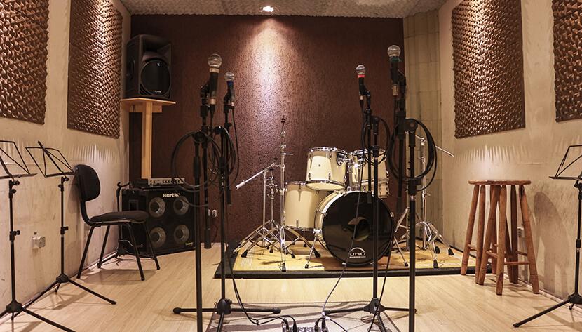 Estúdio para ensaio e gravação em SP